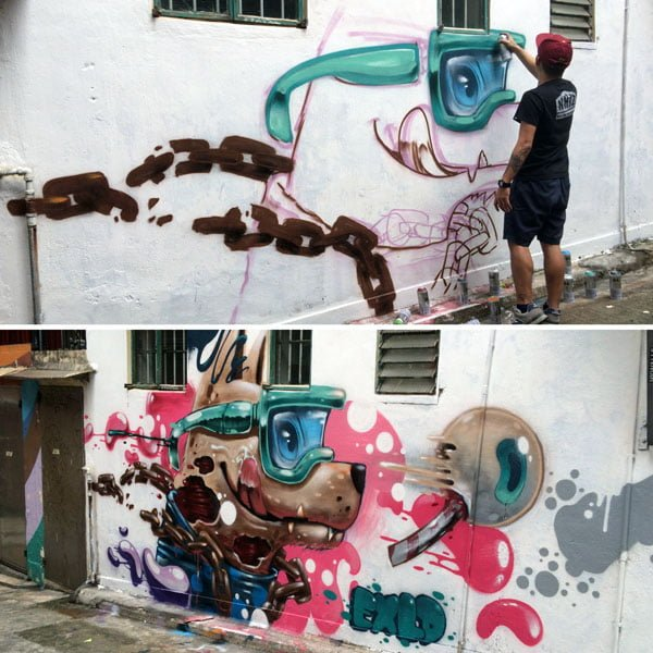 Hong Kong Street Art - exld Progress