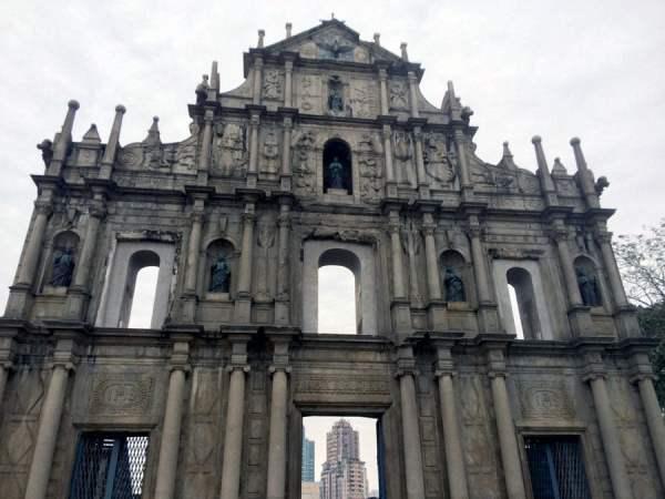Macau St Pauls Ruins Front Facade