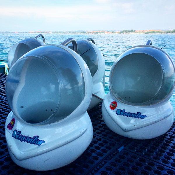 Bali Grand Mirage Resort SeaWalker Helmets