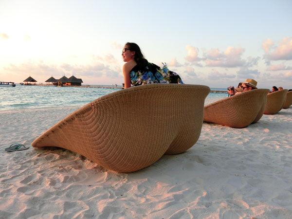 Club Med Kani Maldives Beach Butt Seats