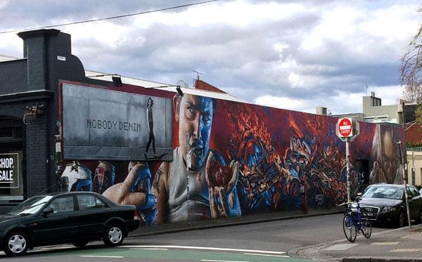 Melbourne Street Art - Fitzroy RB man