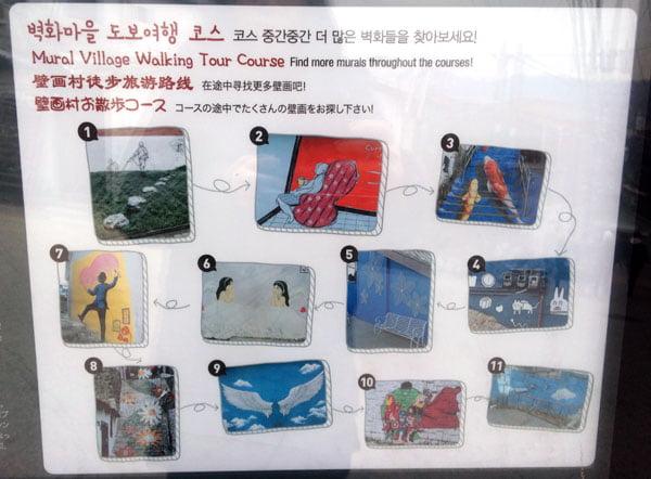 Seoul Ihwa Mural Village Artworks