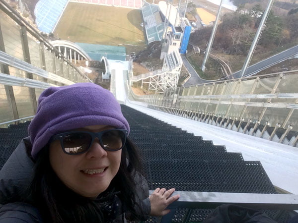 Pyeongchang Alpensia Ski Jump Looking Down