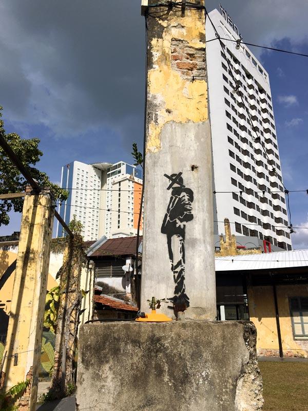 Penang Street Art - Hin Bus Depot Nafir Pillar