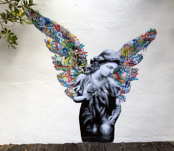 Penang Street Art - Jalan Nagore Martin Whatson Angel