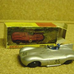 Scarce Nicky Toys (Indian Dinky) 238 Jaguar D Type Fair/Good in Fair/Good box