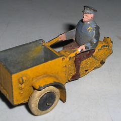DINKY TOYS PRE WAR TRIPORTEUR 3 WHEELED MOTORCYCLE