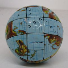 RUBIK'S CUBE-TYPE PUZZLE.. THE WORLD / GLOBE Late 1980's