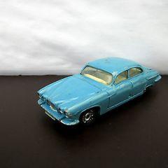 Nicky Toys India 142 Jaguar Mark X Saloon – Light blue – Dinky Toys Copy