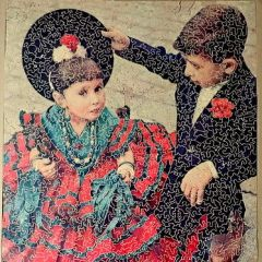 Vintage  1000 piece Enid Stocken Old  Wooden Jigsaw Puzzle