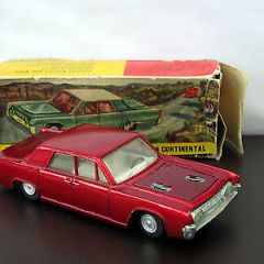Nicky Toys India 170 Lincoln Continental – Metallic Red – Dinky Toys Copy  Boxed