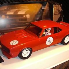 PIONEER SLOT CAR J-CODE SPECIAL 1967 CHEVY CAMARO SIGNAL RED TOOL TEST ASSEMBLY