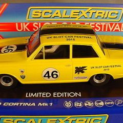 Scalextric UKSF 2015 Ford Cortina C3502SF Slot Car Festival. Car #1 of 120 MB