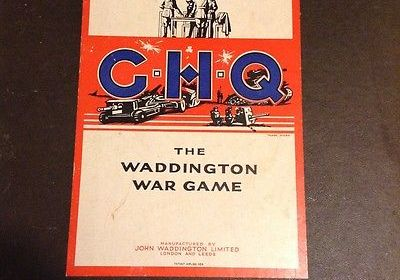 GHQ The Waddington War Game, board game with original box and pieces.