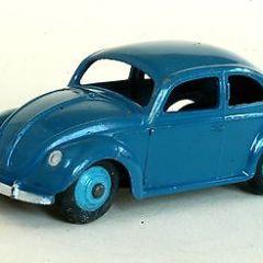 Vintage Original Dinky Toys VW Volkswagen Beetle Saloon Car No 181 VGC Dark Blue
