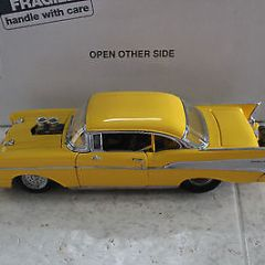 1957 Yellow  Chevy Pro Street Hardtop 1:24 Scale Die Cast  Danbury Mint
