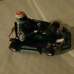 RARE NINCO JAGUAR F1 GO KART #7 RACING SLOT CAR SCALEXTRIC