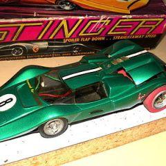 Vintage Classic Industries Stinger 1/24 Slot Car Thingie + box, body, rears