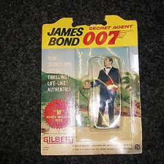 ACTION FIGURE CARDED 007 GILBERT JAMES BOND M BONDS BOSS 1965 CARDED 007 AGENT