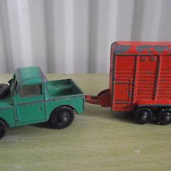 Dinky Dublo 073 Land Rover & Smiths Horse Trailer – Vintage Diecast Models OO