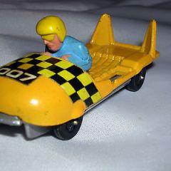 James Bond Corgi Juniors Whizzwheels Bobsleigh  007 Vintage Corgi Diecast Model.