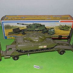 Vintage Dinky toys diecast military 616 artic transporter & chieftain tank 1448