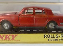Dinky Toys 158 Rolls Royce Silver Shadow Red Boxed Diecast Model Car