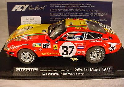Fly Ferrari 365 GTB A652 #37 Le Mans 1973 MB, 1/32 slot car