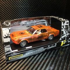 PIONEER SLOT CAR 50TH ANNIVERSARY MUSTANG, NEON X-RAY LIMITED EDITION #43 OF 68