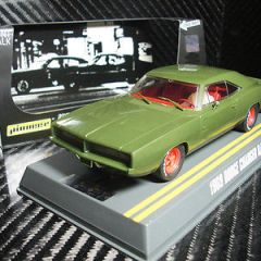 PIONEER SLOT CAR J-CODE SPECIAL 1969 DODGE CHARGER R/T 'ARMY GREEN' TOOL TEST
