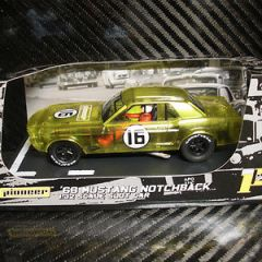 PIONEER SLOT CAR MUSTANG NOTCHBACK X-RAY RACER YELLOW LIMITED EDITION #59 OF 70