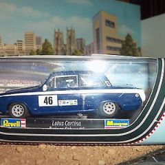 "REVEL   LOTUS  CORTINA  slot  car   "" Rainer  Schwedt "" very rare now and in box"