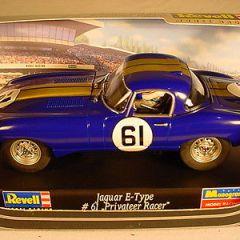 Revell E Type Jaguar #61 Blue 08299 MB 1 of 500 1/32 slot car