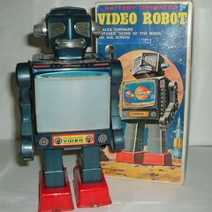 robots VINTAGE HORIKAWA SH TOYS VIDEO ROBOT MADE IN JAPAN 1960'S