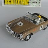 Scalextric EXIN  Spain Excellent brown MERCEDES 250 S.L. SPORT ref C33  1968 ! f