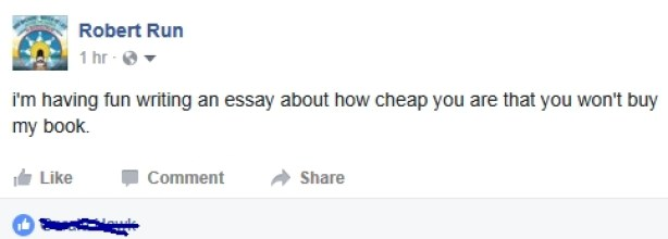 facebook post about cheapness of my friends