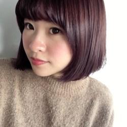 紫 ヘアカラー