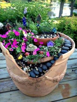 Soulful You Know All Those Broken Terracotta Pots Thrown Y Couldhave Fairy Gardens Fairy Gardens Network Kids Fairy Garden Kit