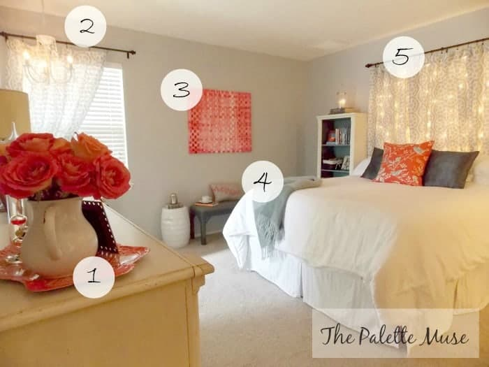 Master bedroom makeover on a budget the palette muse for Bedroom makeover