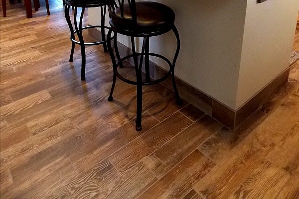 Porcelain Wood Tiles are perfect for a busy kitchen.