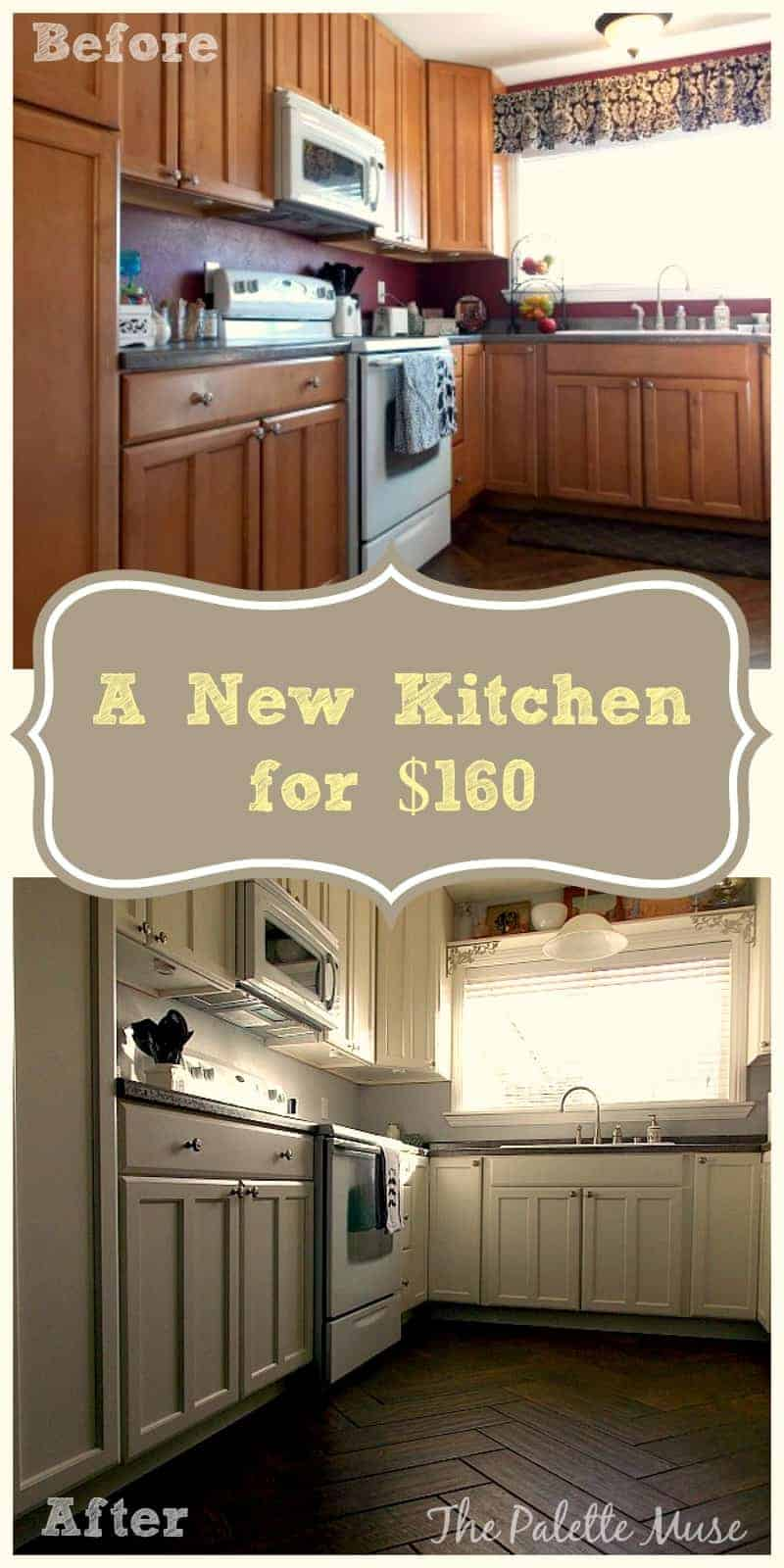 Painted kitchen cabinets one year later the palette muse for Budget kitchen cupboards