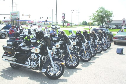MOTORCYCLES all lined up