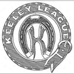 THE MEANING OF THE SYMBOLS ON THE Keeley League logo represents its founding in a blacksmith's shop. Earlier emblems had one of the letters B, C, G, C at each of the tails of the Letter K, which stands for Bi- Chloride of Gold Club. As in The Keeley's motto, the belt signified circling the world.