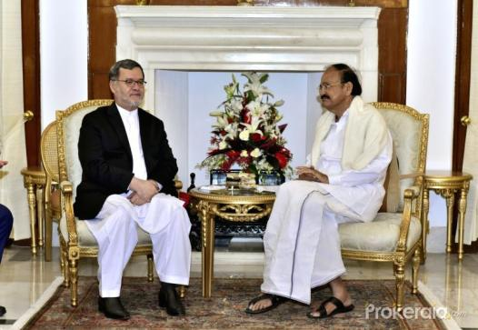 New Delhi: Vice-President M. Venkaiah Naidu meets Afghanistan's Second Vice President Mohammad Sarwar Danish in New Delhi on Dec 12, 2017 Photo: Prokerala