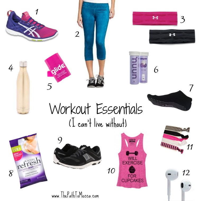 Gym Essentials collage