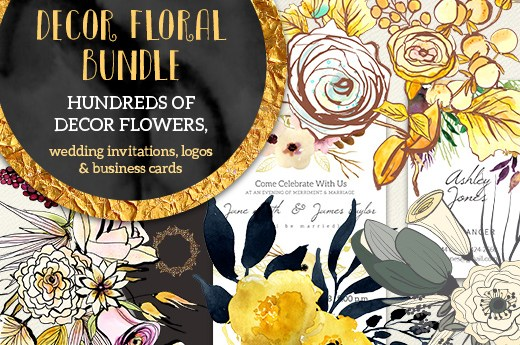 Decor Floral Bundle with Extended License (91% off)