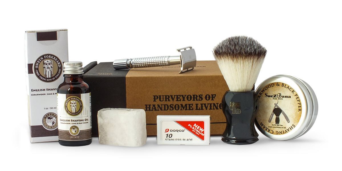 August 2016 subscription box from the personal barber