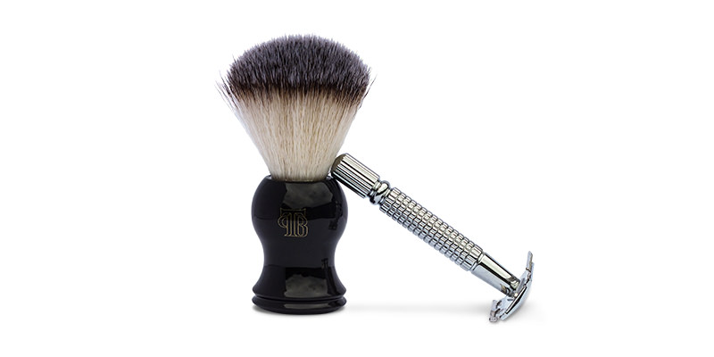 safety razor and shaving brush from the personal barber