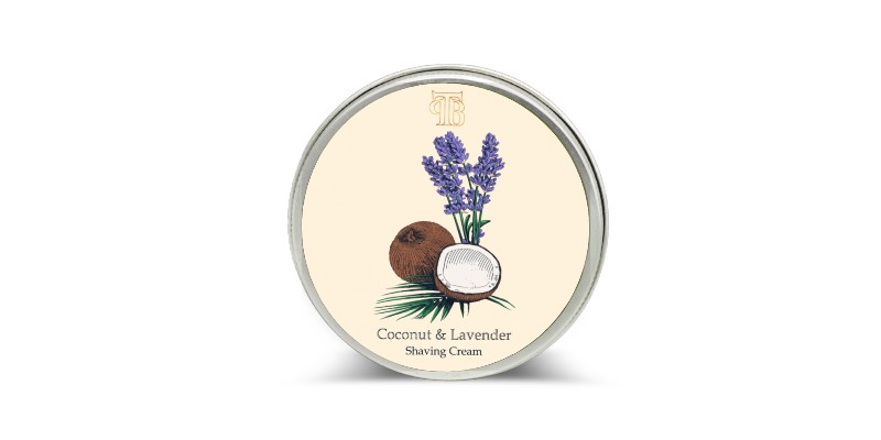 Lavender and coconut shaving cream
