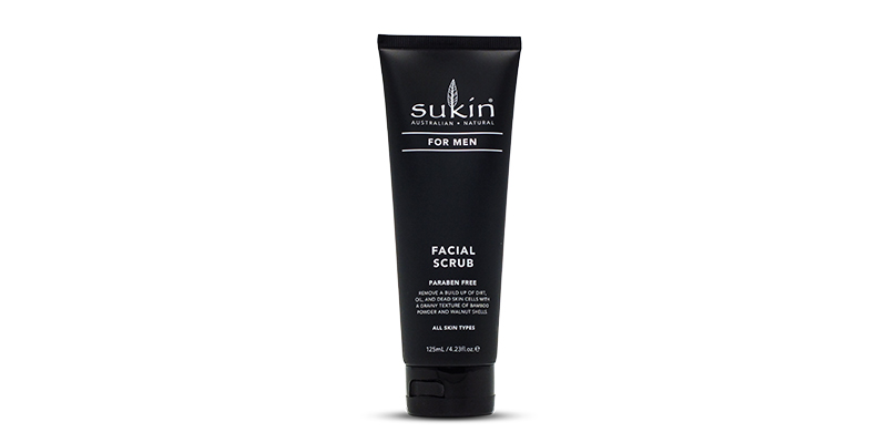 Facial Scrub for men from Sukin